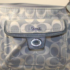 Coach Blue Jaquard Crossbody